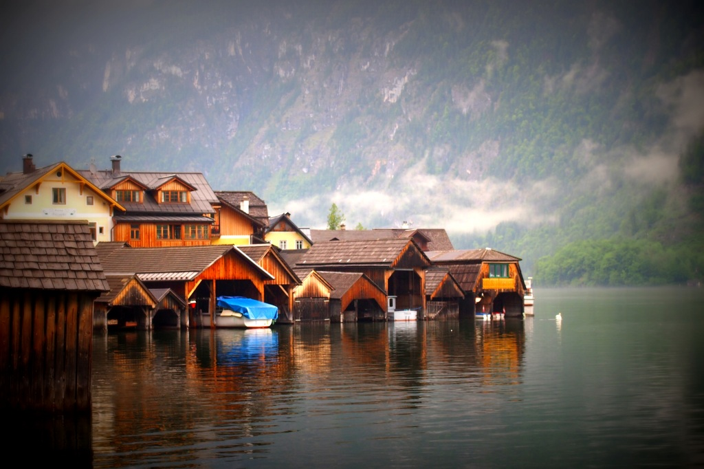 Boathouses, Hallstatt's answer to suburban garages.