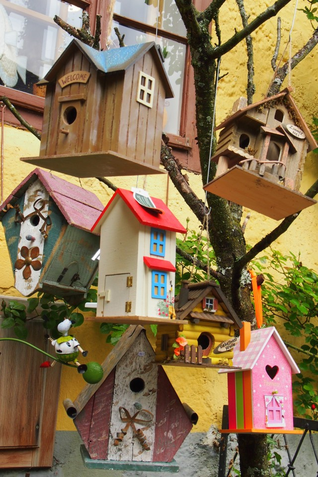 Birds might not know what to make of such pretty new digs but I wish I had bought one home for my garden!