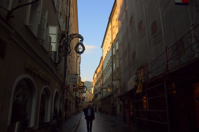 Getreidegasse: unusually empty