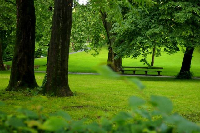 a quiet end of Mirabell Garden