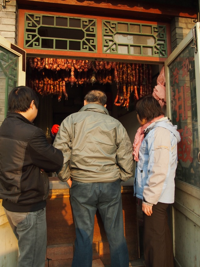 locals buying sausages...