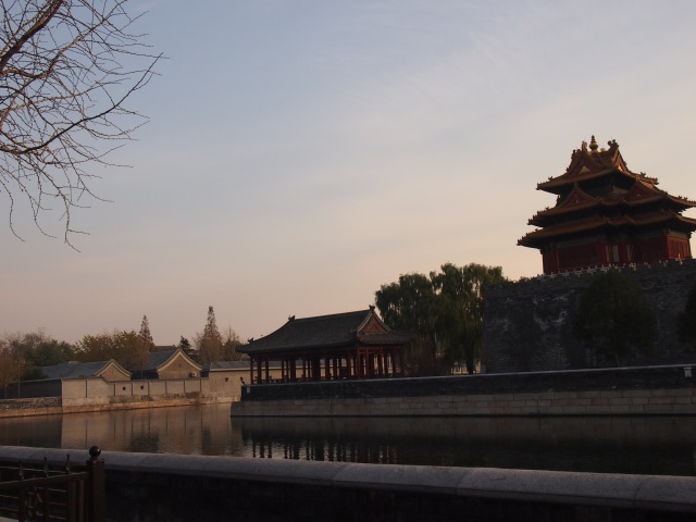 Forbidden City at dusk
