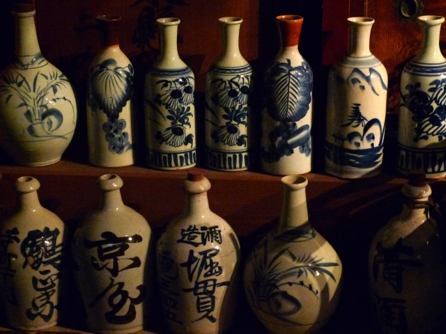 Bottles within which lie the spirits of the past.